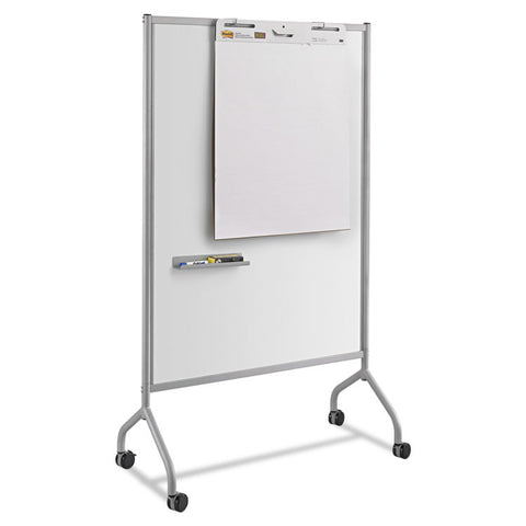 Impromptu Magnetic Whiteboard Collaboration Screen, 42w X 21 1/2d X 72h, Gray