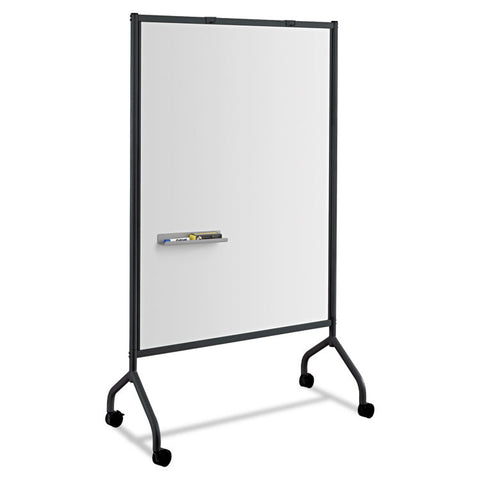 Impromptu Magnetic Whiteboard Collaboration Screen, 42w X 21 1/2d X 72h, Black