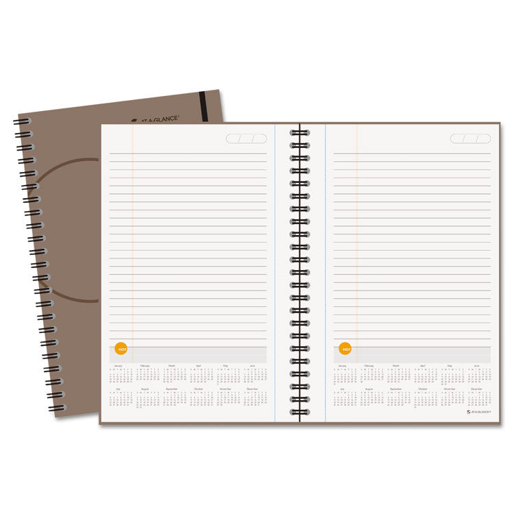 Plan. Write. Remember. Planning Notebook With Reference Calendar, 6 X 9, Gray