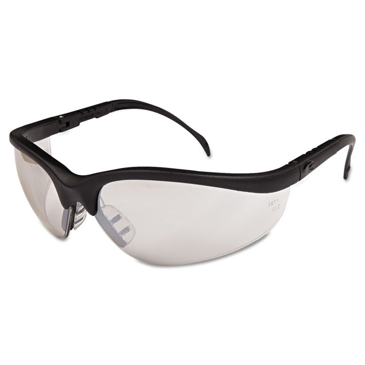 Klondike Safety Glasses, Black Matte Frame, Clear Mirror Lens