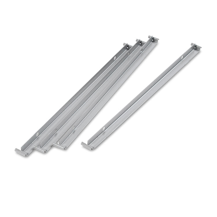 "Two Row Hangrails For 30"" Or 36"" Files, Aluminum, 4/pack"