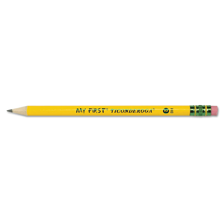 My First Ticonderoga Woodcase Pencil, Hb #2, Yellow, 1 Dozen