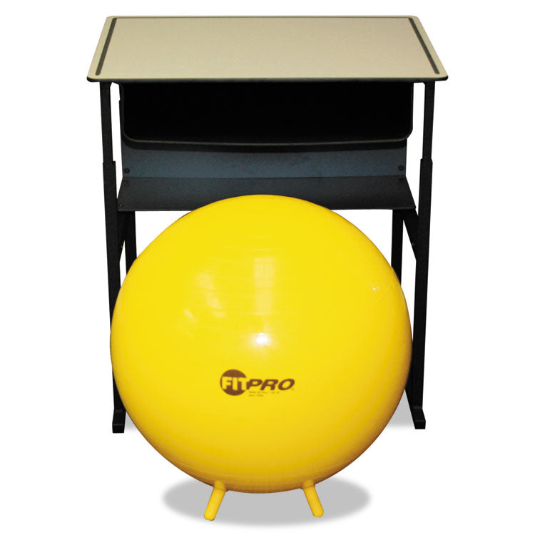 Fitpro Ball With Stability Legs, 65cm Diameter, Yellow