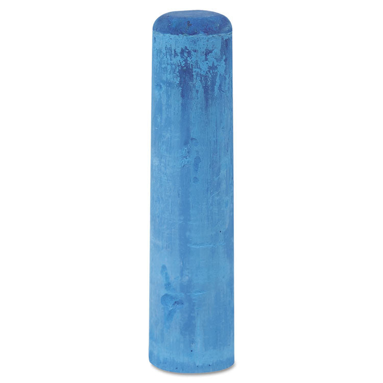"Railroad Crayon Chalk, 4"" X 1"", Blue, 72/box"