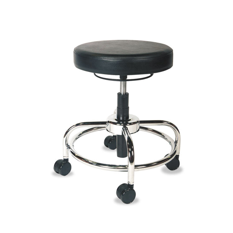 Hl Series Height-Adjustable Utility Stool, Black