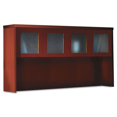 Aberdeen Series Laminate Glass Door Hutch, 72w X 15d X 39-1/4h, Cherry