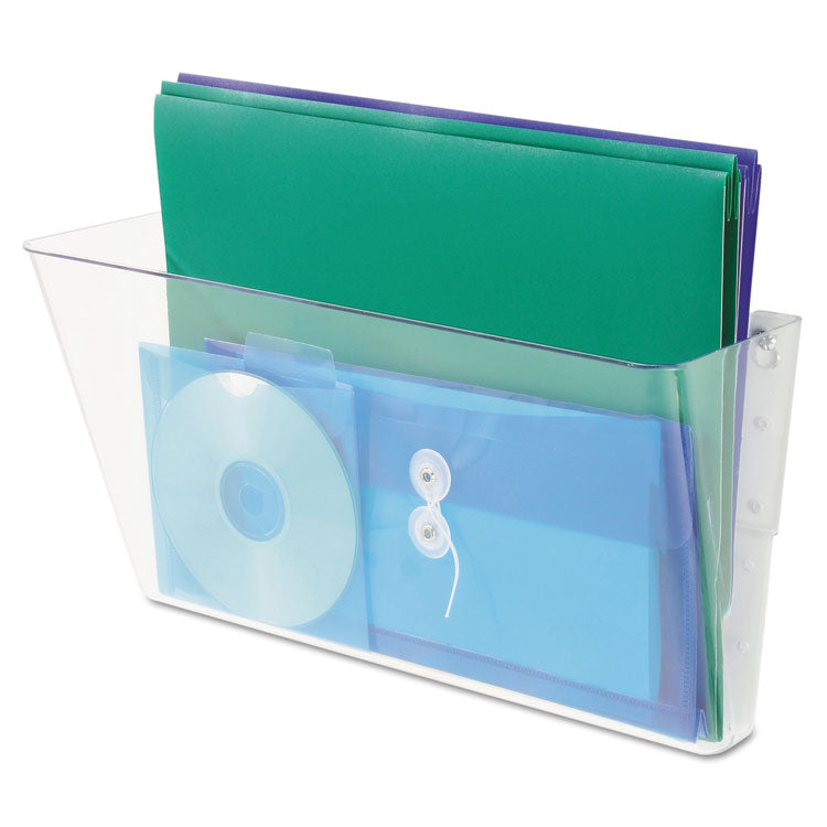 STACKABLE DOCUPOCKET WALL FILE, LEGAL, 16 1/4 X 4 X 7, CLEAR