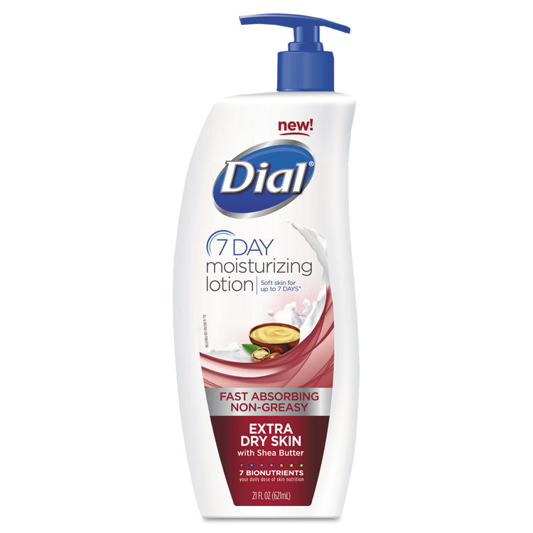 Extra Dry 7-Day Moisturizing Lotion With Shea Butter, 21oz, 6/carton