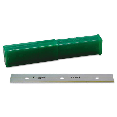 "Ergotec Glass Scraper Replacement Blades, 6"" Double-Edge, 25/pack"