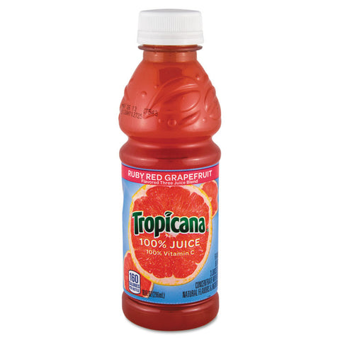 100% Juice, Ruby Red Grapefruit, 10oz Bottle, 24/carton