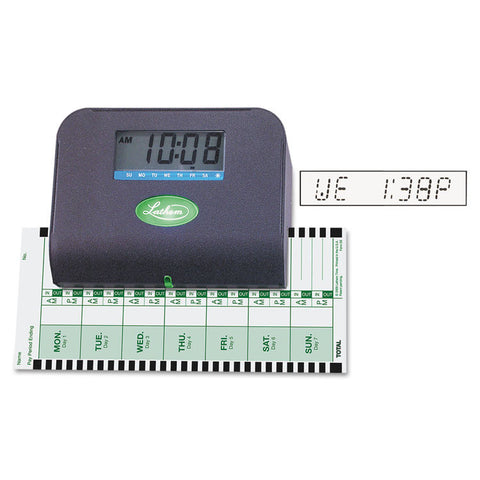 800p Thermal Print Time Recorder, 6 X 3 X 5-1/3