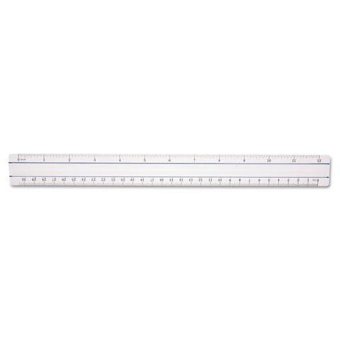 "12"" Magnifying Ruler, Plastic, Clear"