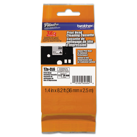 "36mm (1.4"") Tze Cleaning Tape For P-Touch, 100 Uses"