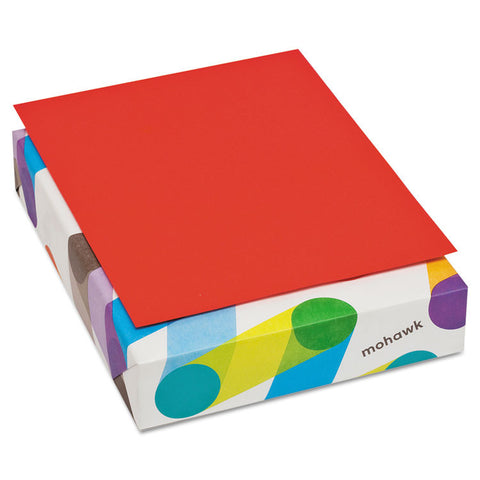 Britehue Multipurpose Colored Paper, 20lb, 8 1/2 X 11, Red, 500 Sheets