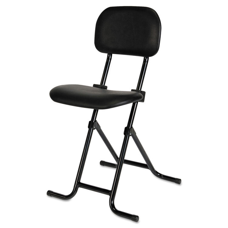 Il Series Height-Adjustable Folding Stool, Black