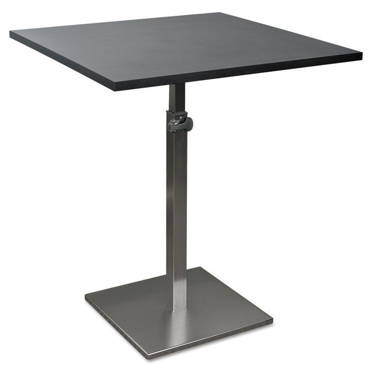 Height-Adjustable Bistro Table, 31-1/2w X 31-1/2d X 30 To 43-1/2h, Black