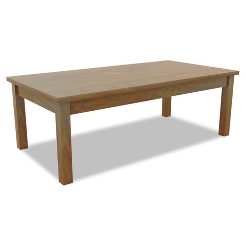 Alera Valencia Series Occasional Table, Rectangle, 47-1/4 X 20 X 16-3/8, Cherry