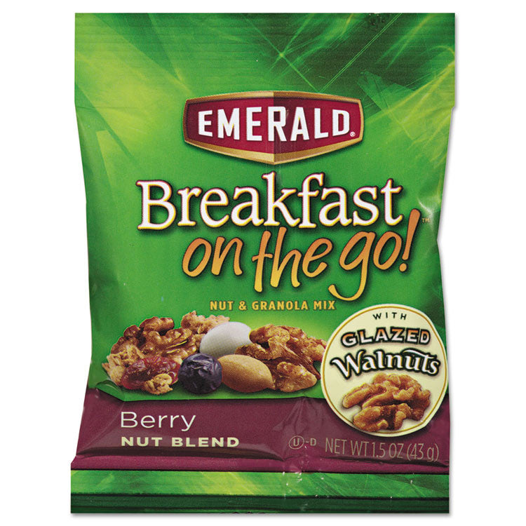Breakfast On The Go, Berry Nut Blend, 1.5oz Bag, 8/box