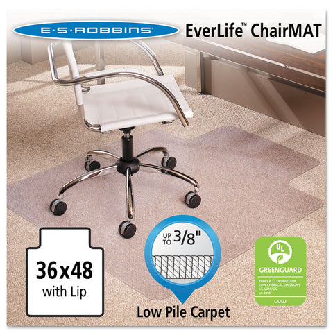 36x48 Lip Chair Mat, Multi-Task Series Anchorbar For Carpet Up To 3/8""