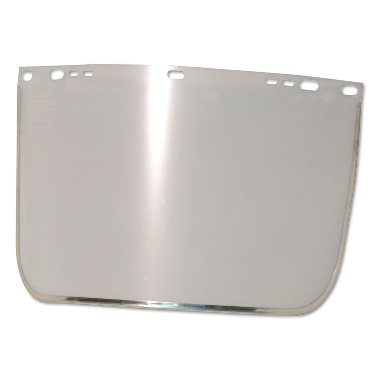 "Face Shield Visor, 15 1/2"" X 9"", Clear, Bound, Plastic/aluminum"