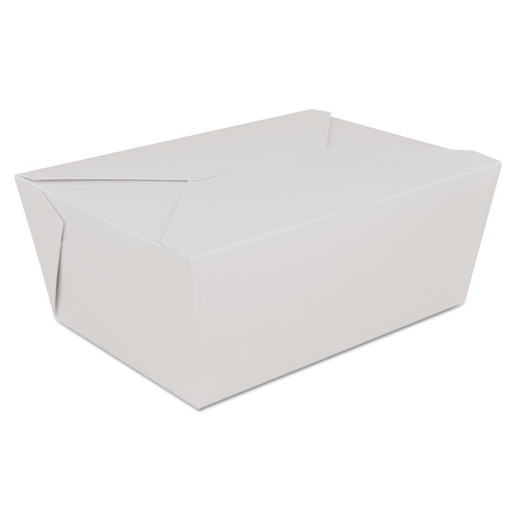 Champpak Retro Carryout Boxes, Paperboard, 7-3/4 X 5-1/2 X 3-1/2, White