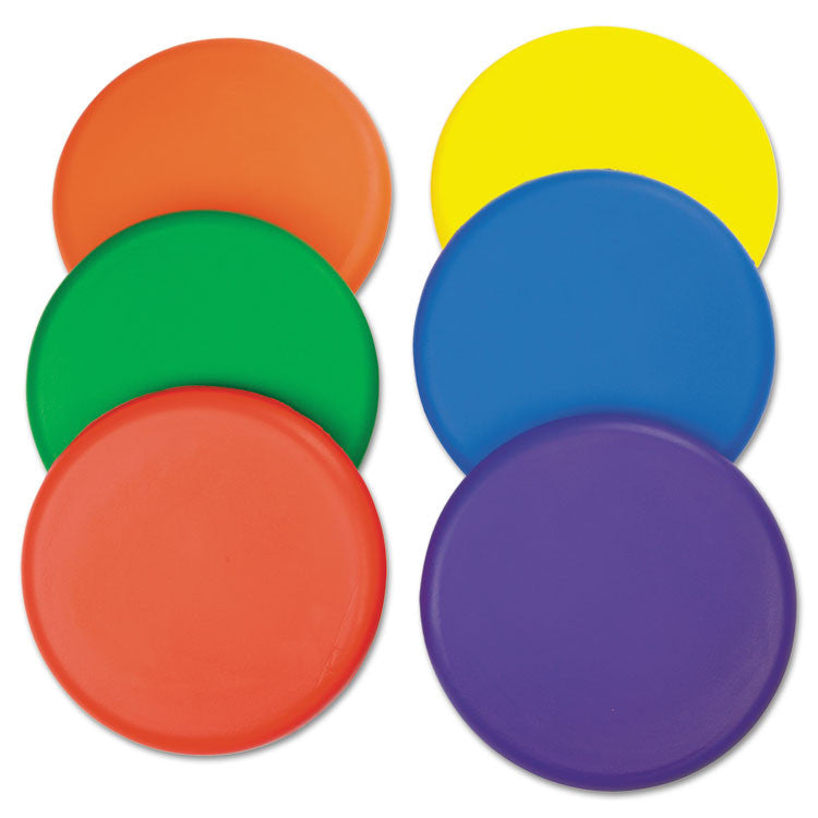 Rhino Skin Foam Discs, Set Of 6 Assorted Color Discs