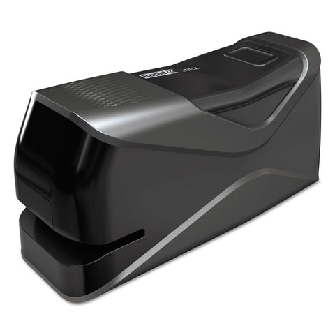 20ex Front-Loading Electric Stapler, Half Strip, 20-Sheet Capacity, Black