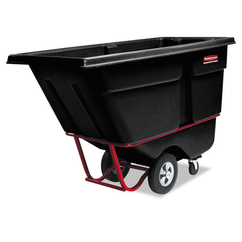 Commercial Rotomolded Tilt Truck, Rectangular, Plastic, 1250-Lb Cap., Black