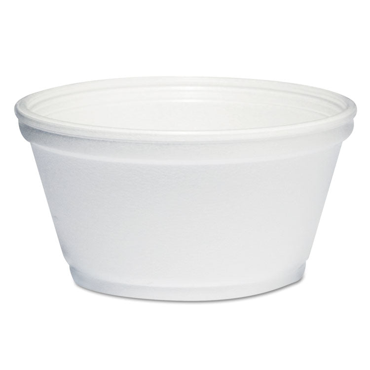 Foam Container, 8oz, White, 1000/carton