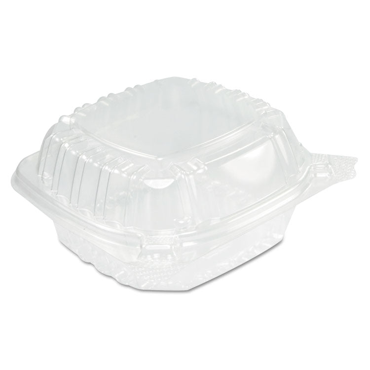 Clearseal Hinged Clear Containers, 13 4/5 Oz, Clear, Plastic, 5.4 X 5.3 X 2.6