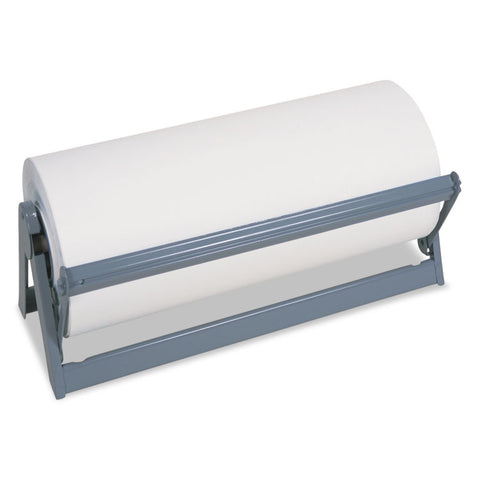 "All-In-1 Paper Roll Dispenser & Cutter, 9"" Diameter, 30"" Wide, Steel, Light Gray"