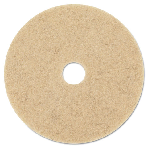 "Ultra High-Speed Natural Blend Floor Burnishing Pads 3500, 27"" Dia., Tan, 5/ct"