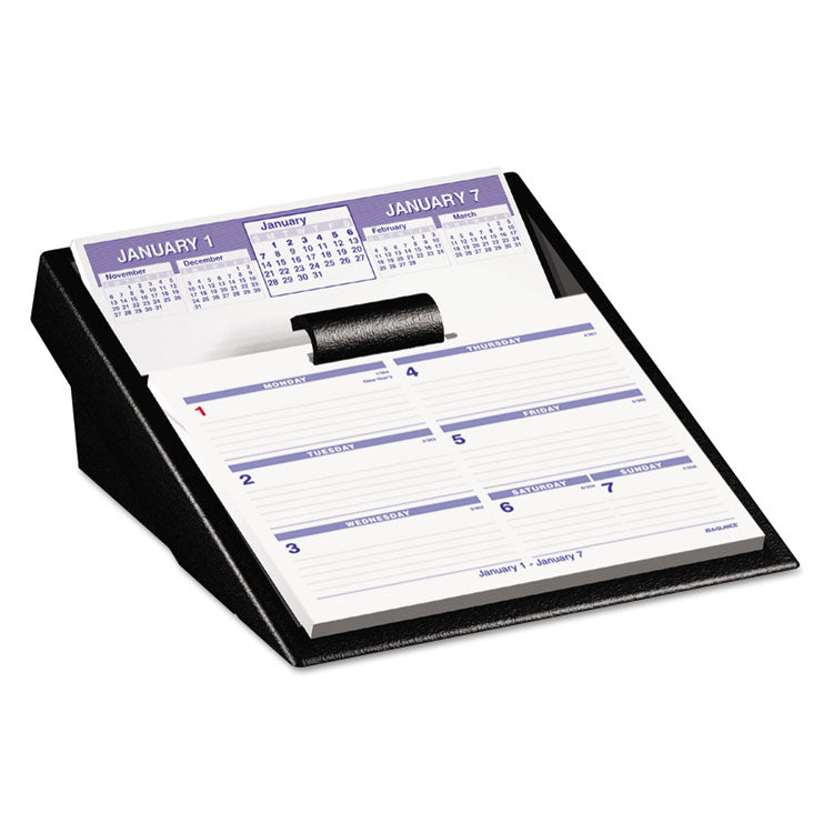 Flip-A-Week Desk Calendar And Base, 5 5/8 X 7, White, 2017