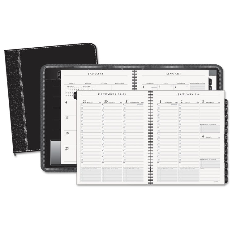 Columnar Executive Weekly/monthly Appointment Book, Zipper, 8 1/4 X 10 7/8, 2017
