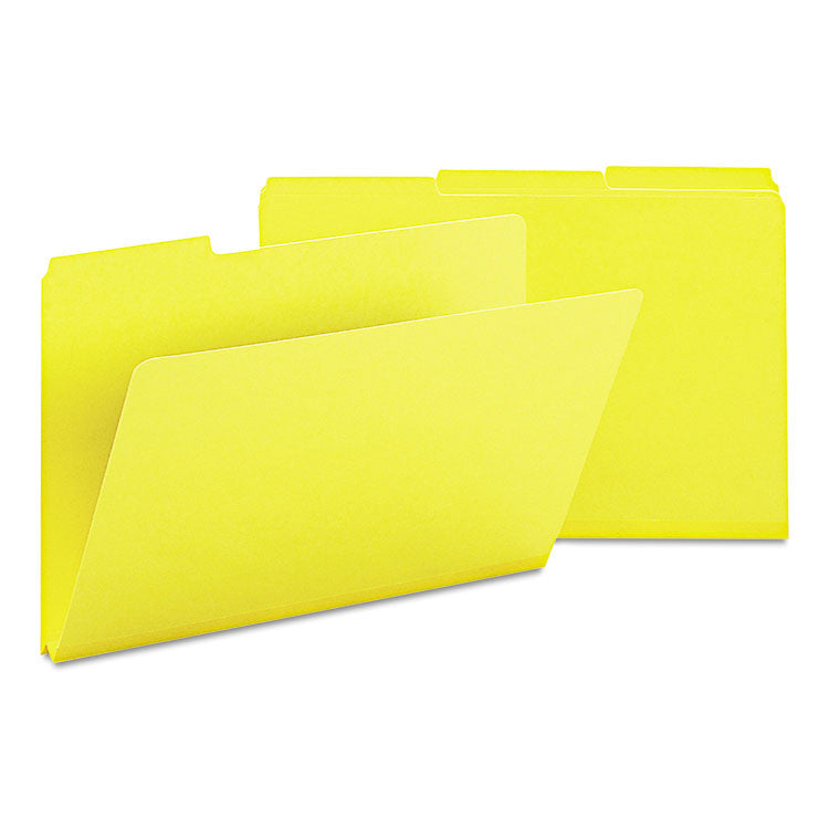 Recycled Folder, One Inch Expansion, 1/3 Cut Top Tab, Legal, Yellow, 25/box