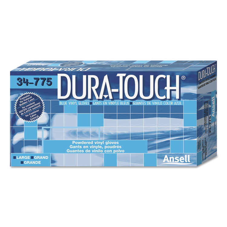 Dura-Touch Pvc Gloves, Lightly Powdered, Small, Blue