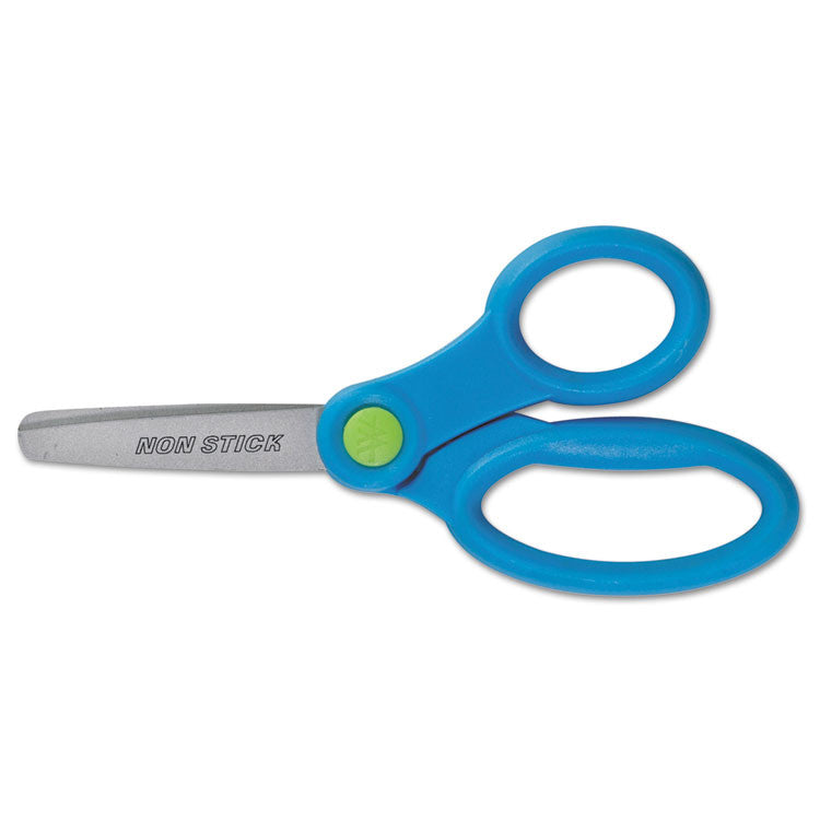 "Non-Stick Kids Scissors, 5"" Long, Pointed, Assorted Colors"