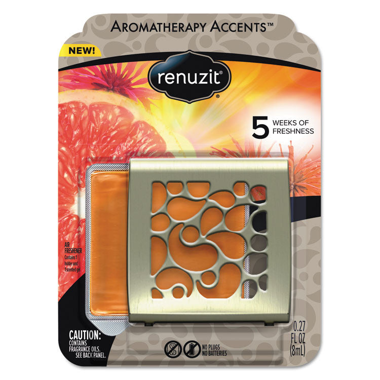 Fresh Accents Air Freshener, Happy - Citrus/floral, Silver/orange, 8/ct