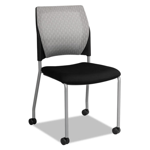 Alera Tce Series Mesh Back Guest Chair, Black, 2/carton