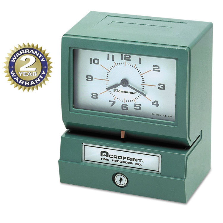 Model 150 Heavy-Duty Analog Automatic Print Time Clock