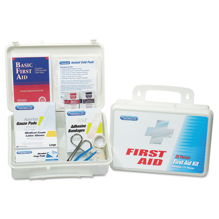 Office First Aid Kit, For Up To 25 People, 131 Pieces/kit