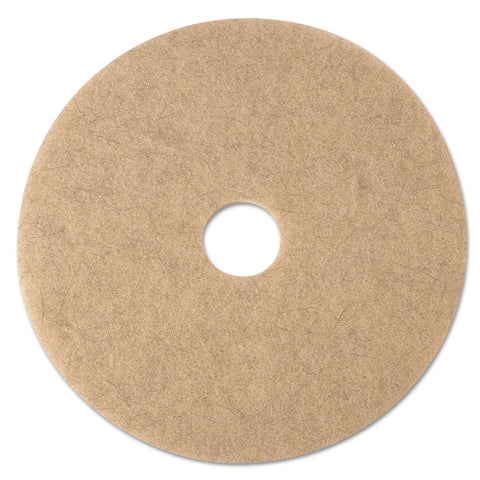 "Ultra High-Speed Natural Blend Floor Burnishing Pads 3500, 24"" Dia., Tan, 5/ct"