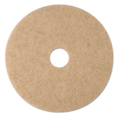 "Ultra High-Speed Natural Blend Floor Burnishing Pads 3500, 20"" Dia., Tan, 5/ct"