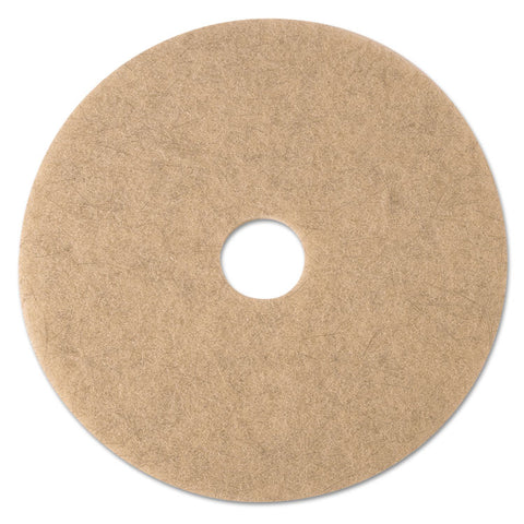 "Ultra High-Speed Natural Blend Floor Burnishing Pads 3500, 21"" Dia., Tan, 5/ct"