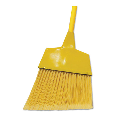 "Corn/fiber Angled-Head Lobby Brooms, 42"", Yellow, 12/carton"