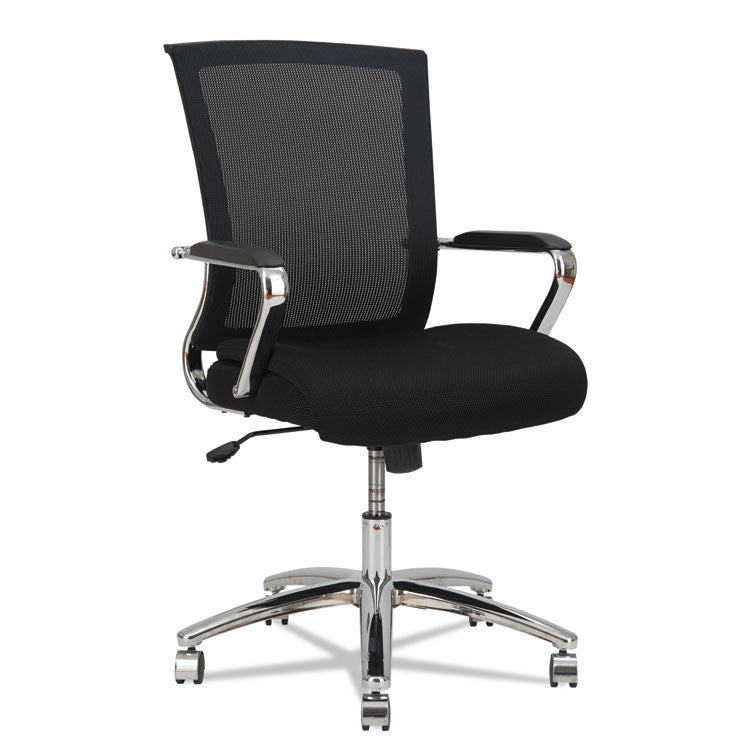 Alera Enr Series Mid-Back Slim Profile Mesh Chair, Black/chrome