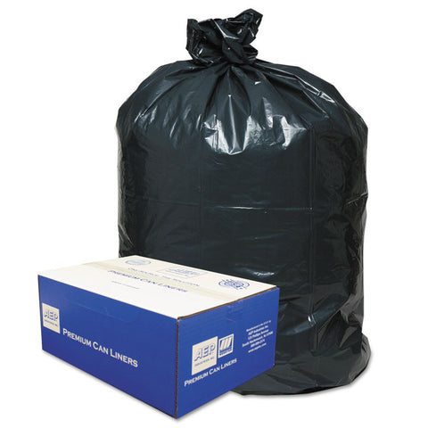 2-Ply Low-Density Can Liners, 31-33gal, .63 Mil, 33 X 39, Black, 250/carton