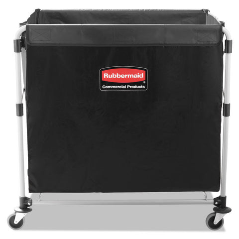 Collapsible X-Cart, Steel, Eight Bushel Cart, 24 1/10w X 35 7/10d, Black/silver