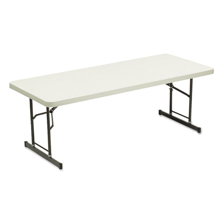 Adjustable Height Tables, 72w X 30d X 25-35h, Platinum