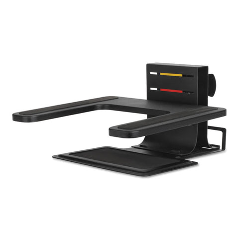 "Adjustable Laptop Stand, 10"" X 12 1/2"" X 3"" - 7""h, Black"